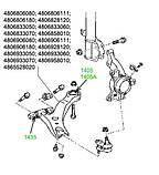 14-05A Сайлентблок переднего рычага задний усиленный Toyota Camry 30, 35, 40; Lexus 30, 40; 4865533050, фото 4