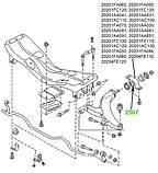 25-07 Сайлентблок переднего рычага задний Subaru Legaci, Impreza, Forester; 20201FA030; 20201FA040, фото 3