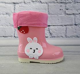 Резиновые сапоги Зайчик Розовые bbt.kids