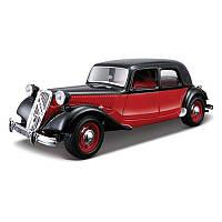 Автомодель Citroen 15 CV TA 1938 черный, красно-черный 1:24