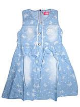 Сарафаны джинсовые для девочек оптом, размеры 104.110.122. F&D, арт. CY-1139