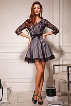 Сукня жіноча з сріблястим напиленням