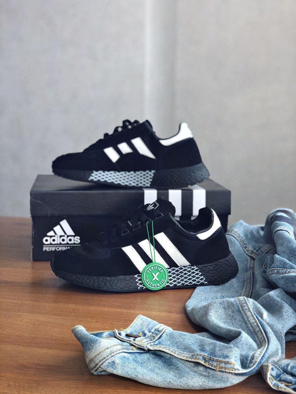 Кросівки Adidas marathon tech black / / Адідас Маратон