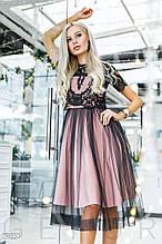 Сукня жіноча з мереживною топ