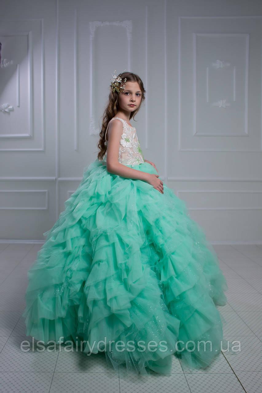 Дитяча святкова сукня зі шлейфом 👑 AMMA 2 👑 - детское платье со шлейфом