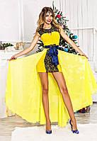 Платье со съёмным шлейфом