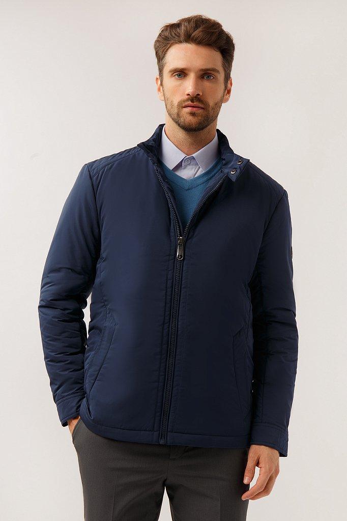 Чоловіча куртка Finn Flare A19-21033-101 коротка темно-синя