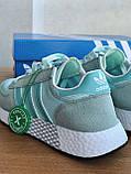 Кросівки Adidas marathon tech blue / Адідас Маратон, фото 6