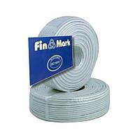 """TV кабель 75 Ом """"FinMark"""" 690 white (100 м)"""