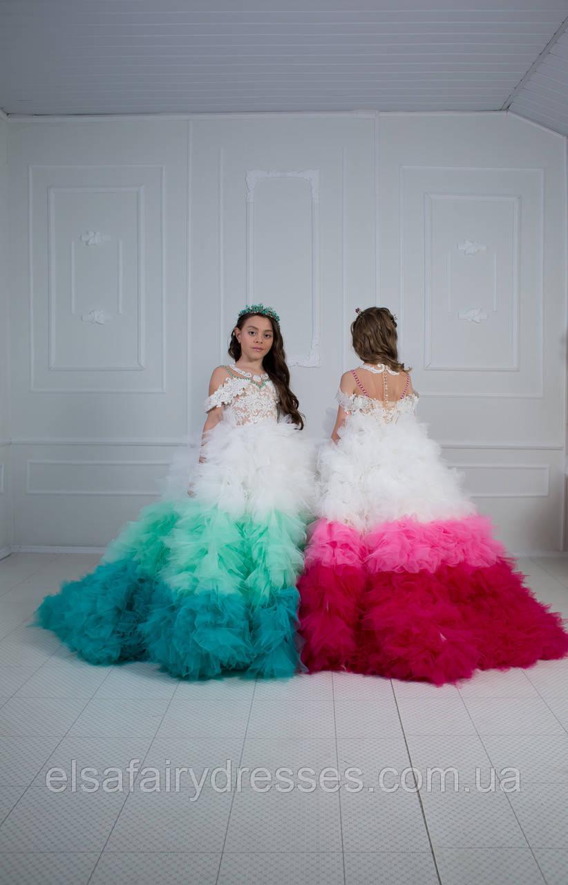 Дитяча святкова сукня 👑 ROSE WHITE 👑 - детское нарядное платье
