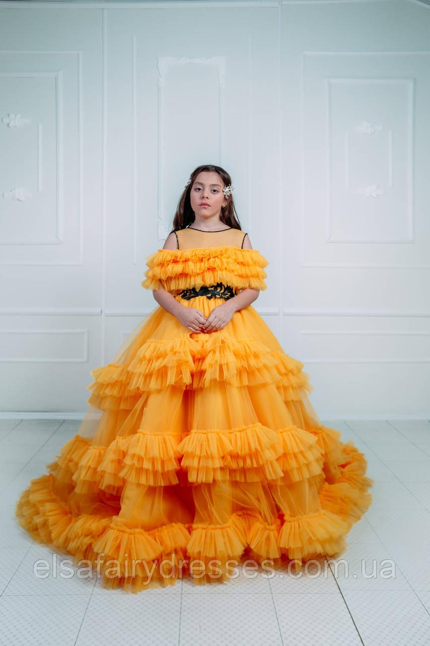 Дитяча святкова сукня зі шлейфом 👑 LA BELLA 👑 - детское нарядное платье
