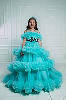 Дитяча святкова сукня зі шлейфом 👑 LA BELLA 👑 - детское нарядное платье, фото 1