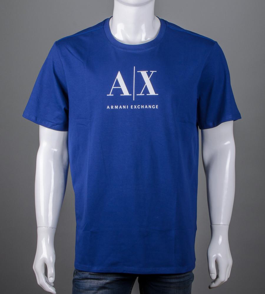 Футболка мужская 3XL, 4XL большие размеры батал оптом Armani (2106б), Синий