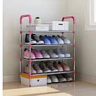 Стійка підставка для взуття Stackable Shoe Rack, 4 полки, 12 пар органайзер взуттєвої стелаж етажерка, фото 2