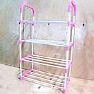 Стійка підставка для взуття Stackable Shoe Rack, 4 полки, 12 пар органайзер взуттєвої стелаж етажерка, фото 4