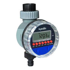 Таймер полива Aqualin автоматический, подачи воды с шаровым клапаном цифр. упр YL21026