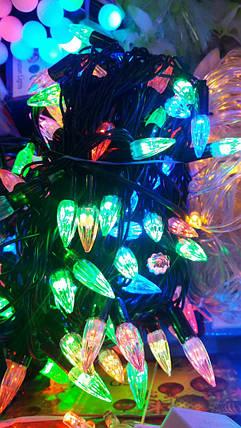 Гирлянда для улицы и дома 10 м, очень яркая (LED), разные цвета, фото 2