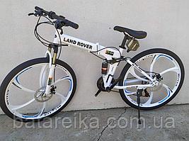 """Складний Велосипед двопідвісний на литих дисках 26"""" Land Rover G4 рама 17"""" Білий"""