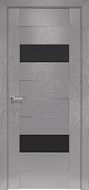 Двері Новий Стиль Женева скло Чорне, Х-Сірий, 700