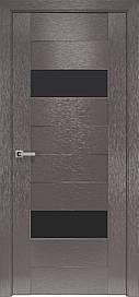 Двері Новий Стиль Женева скло Чорне, Х-Мокко, 900