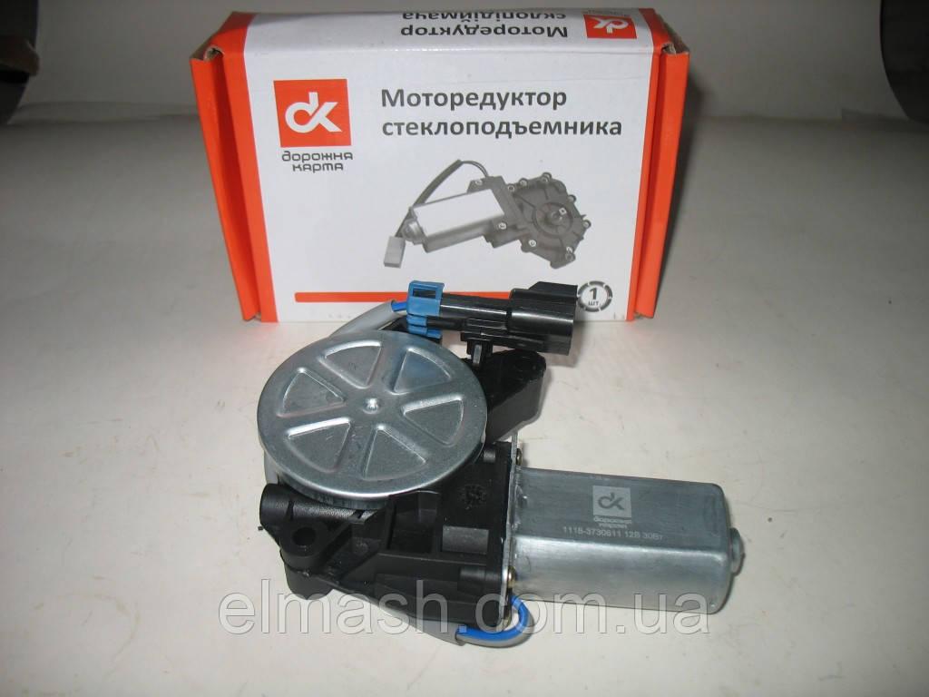 Моторедуктор стеклоподъемника ВАЗ 1118, 2123 левый (квадрат) 12В, 30Вт