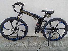 "Складний Велосипед на литих дисках 26"" Mercedes Benz рама 17"" Чорний"