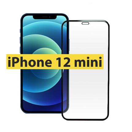 Защитное стекло iPhone 12 mini 5.4 (5D Strong) черное, айфон 12 мини, фото 2