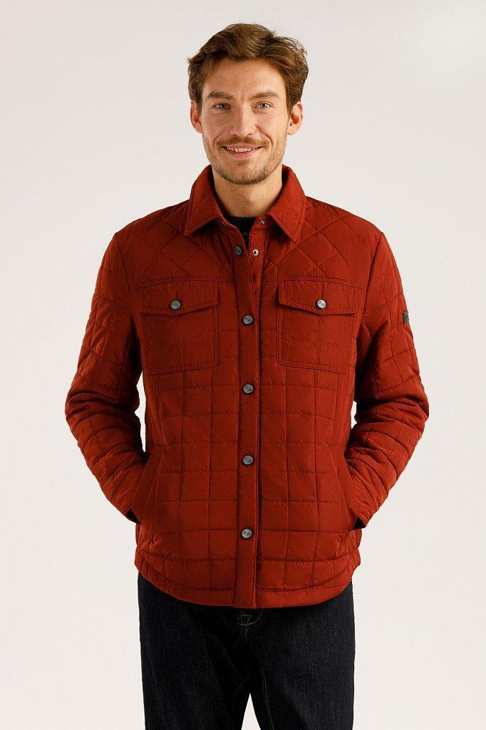Мужская куртка-рубашка Finn Flare A19-22041-319 бордовая