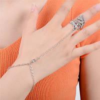 Східне прикраса на руку Слейв ланцюжок браслет через палець Срібло, фото 1
