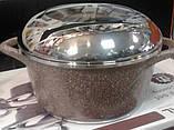 Набор кастрюль с крышками LEXICAL 20/24/28/32 антипригарное гранитное покрытие, набор посуды, 10 предметов, фото 3