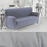 Чехлы на 3-х местный диван без оборки Графит Темно серый Турция Большая палитра цветов Turkey, фото 5