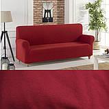 Чехлы на 3-х местный диван без оборки Графит Темно серый Турция Большая палитра цветов Turkey, фото 7