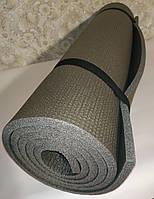 Коврик (каремат мат) для йоги фитнеса спорта термо Серый 180х60х10мм