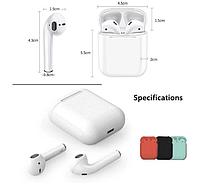 Беспроводные наушники I12 TWS White с гарнитурой Mic Bluetooth для Iphone Android