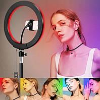 Кольцевая светодиодная LED лампа RGB-260 (26см)