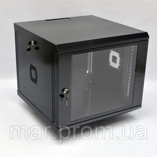 Шкаф 9U, 600х600х507 мм (Ш * Г * В), акриловое стекло, чёрный