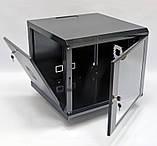 Шкаф 9U, 600х600х507 мм (Ш * Г * В), акриловое стекло, чёрный, фото 2