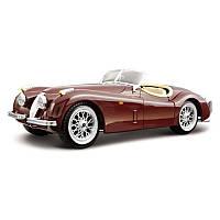 Автомодель Jaguar XK 120 1951 вишневый, серебристый 1:24