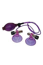 Фиолетовые вакуумные помпы для сосков - Nipplesucker