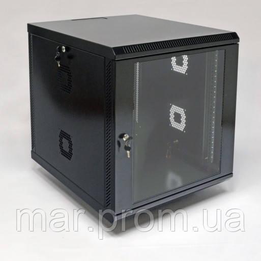Шкаф 12U, 600х700х640 мм (Ш * Г * В), акриловое стекло, чёрный