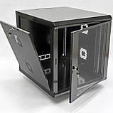 Шкаф 12U, 600х700х640 мм (Ш * Г * В), акриловое стекло, чёрный, фото 2