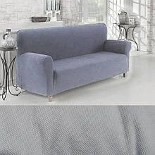 Универсальный чехол накидки готовые чехлы на трехместные диваны  Серый Турция Большая палитра цветов Turkey