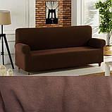 Универсальный чехол накидки готовые чехлы на трехместные диваны  Серый Турция Большая палитра цветов Turkey, фото 6