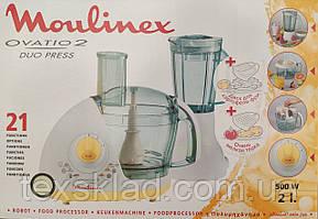 Кухонний комбайн Moulinex Ovatio 2 Duo Press 500W + терка для дырунов і фрі