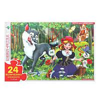 """Развивающие пазлы для маленьких детей: """"Красная Шапочка"""" в коробке 82142 (24 элемента)"""