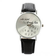 """Оригинальные женские часы """"Who Cares"""" Черные"""