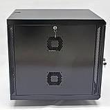 Шкаф 12U, 600х700х640 мм (Ш * Г * В), акриловое стекло, чёрный, фото 5