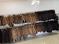 2XL норкова шуба Жіноча з натуральної норки коричневого кольору