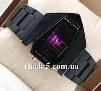 Наручные LED часы Истребитель черные