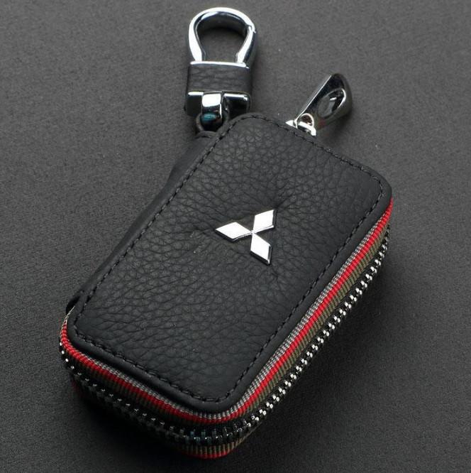 Автомобильный кожаный чехол брелок для ключей от машины, брелок сигнализации натуральная кожа